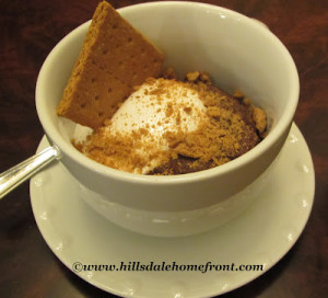 low fat smores cake in a cup