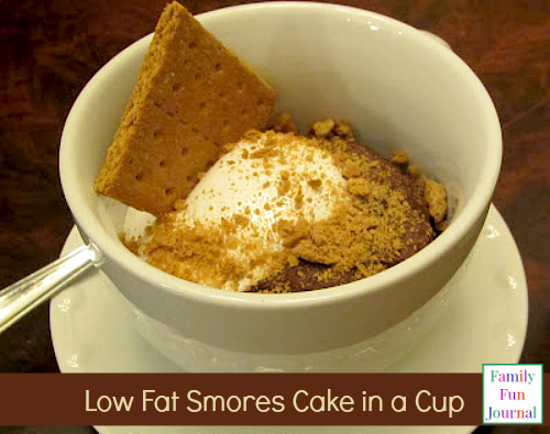 smores cake in a cup