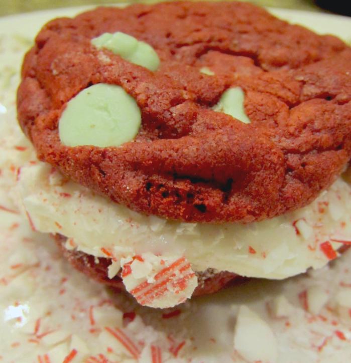 peppermint red velvet cookies