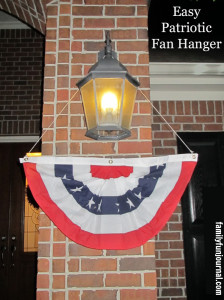 Easy Patriotic Fan Hanger