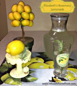 Elizabeth's Rosemary Lemonade