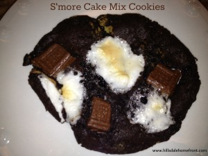 s'more cake mix cookies