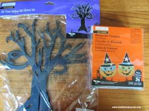 halloween calendar supplies