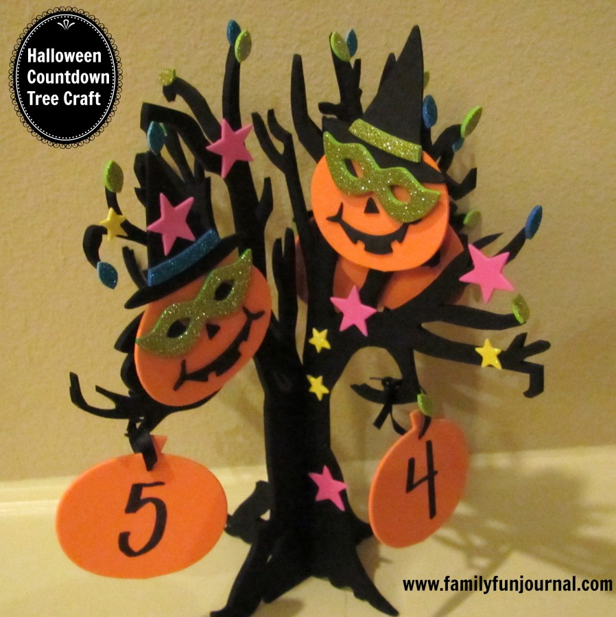 halloween countdown calendar tree