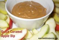 quick caramel apple dip