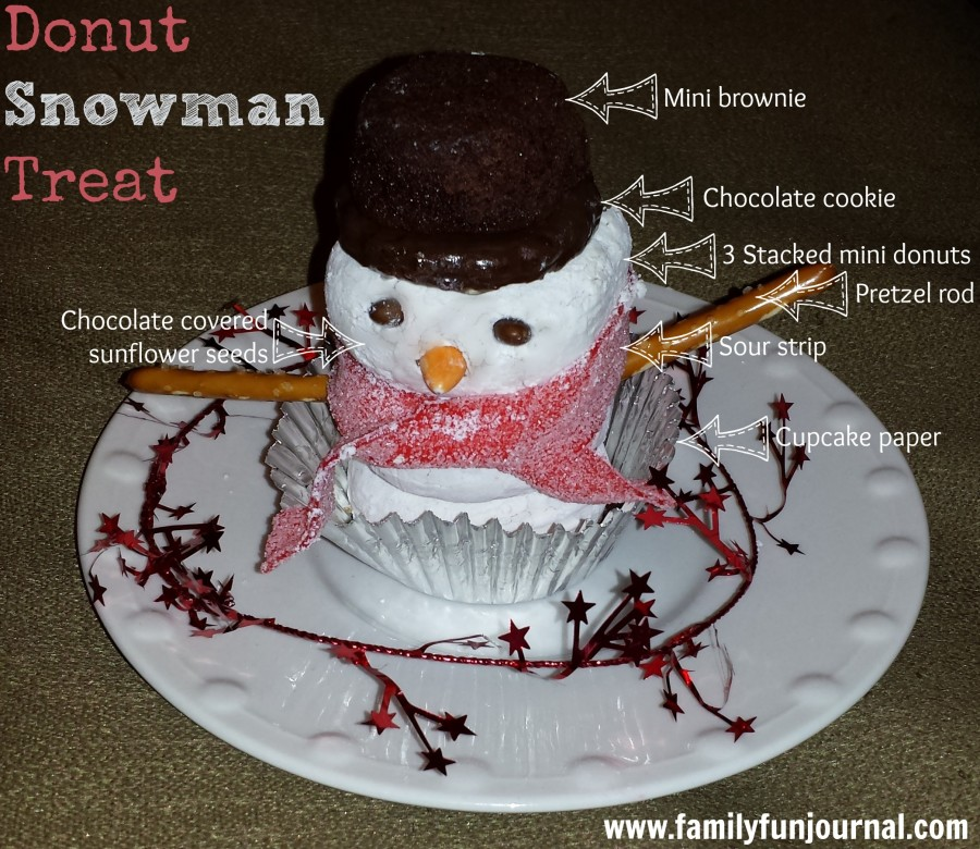 donut snowman treat