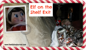 Elf on the Shelf Exit Idea
