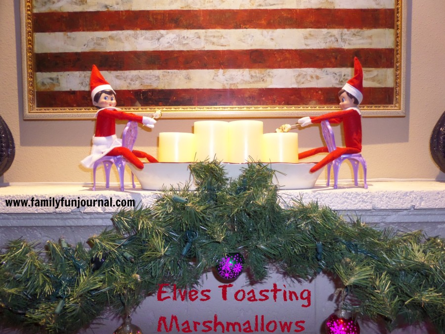 elf on the shelf toasting marshmallows