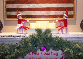 Elf on the Shelf Toasting Marshmallows