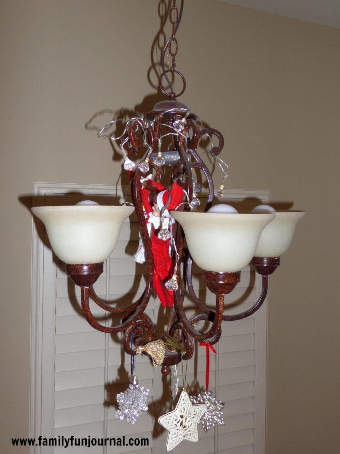 elf on the shelf with christmas lights