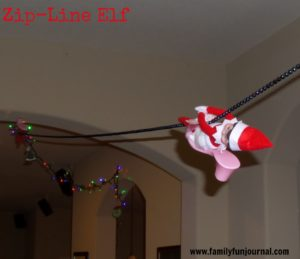 Zip-Line Elf on the Shelf Idea
