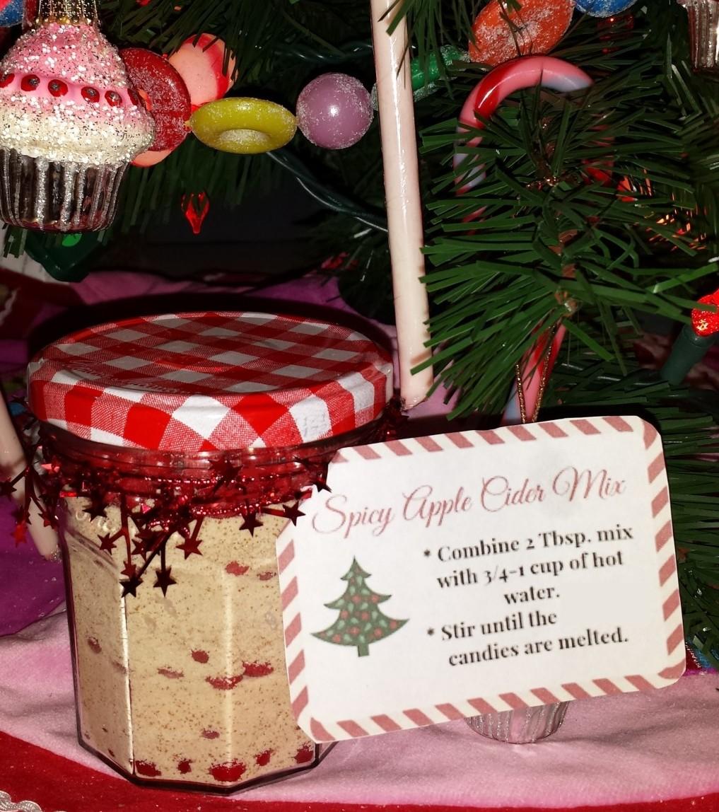 homemade christmas gift apple cider