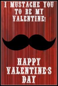 Mustache Valentines Day Card