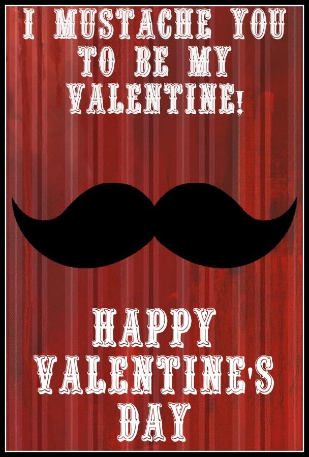 mustache card