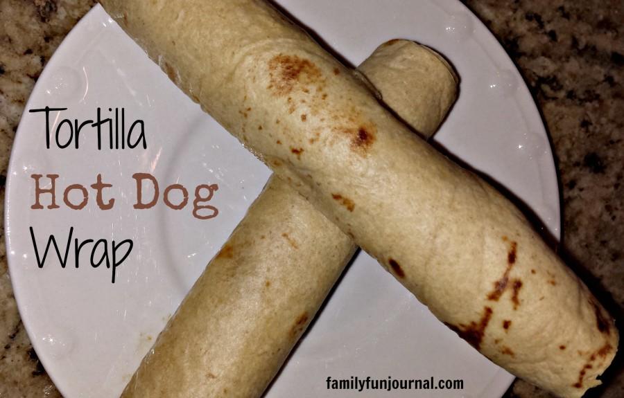 tortilla hot dog wrap