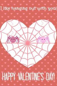 Cute Spider Valentines Day Card