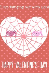 spider valentines day card