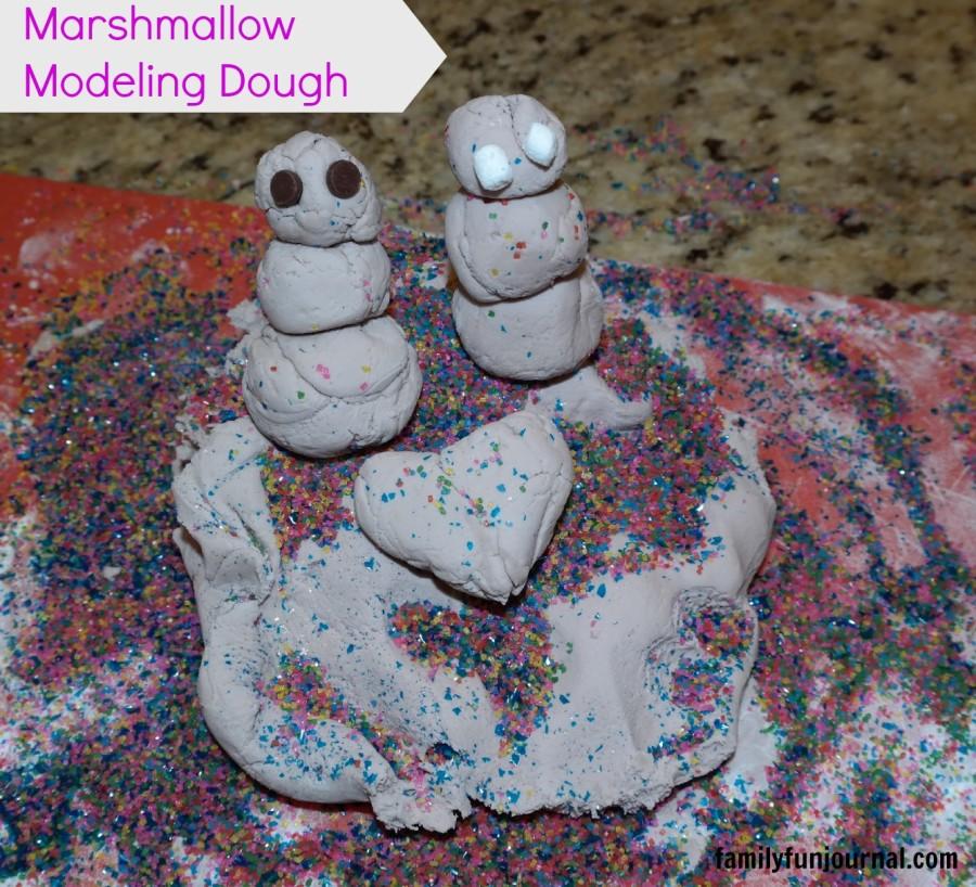 marshmallow modeling playdough recipe