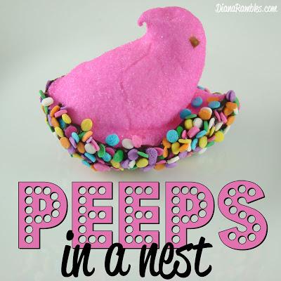 peeps in a nest