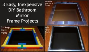 Three DIY Bathroom Mirror Frames