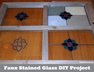 Faux Stained Glass DIY Project