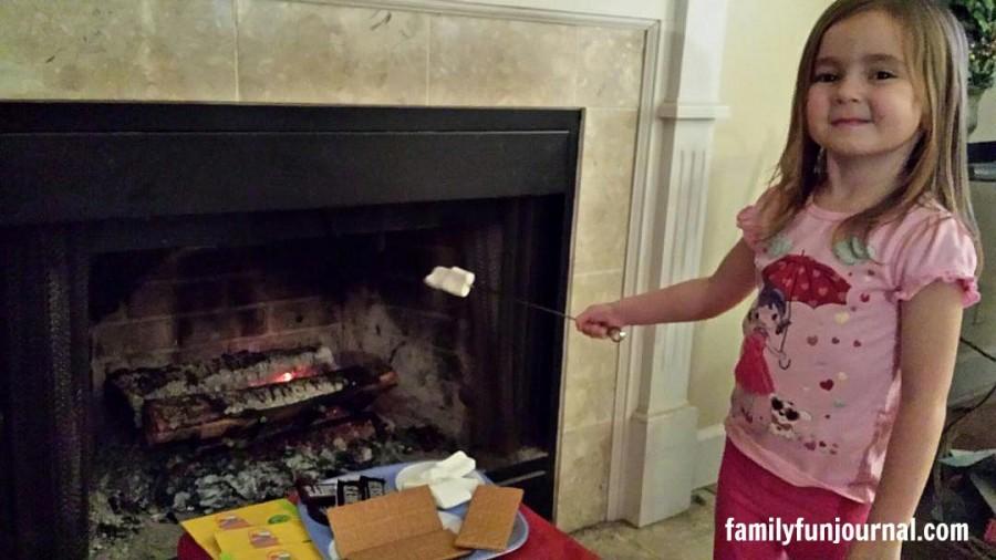fireplace cooking idea marshmallows