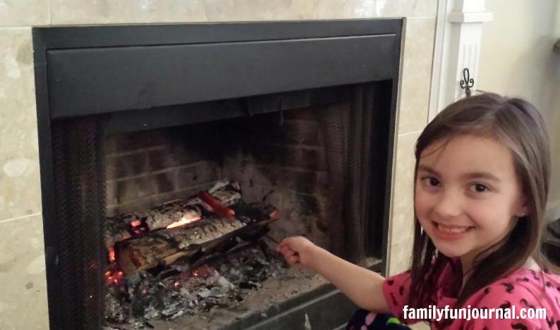 fireplace dinner idea hot dog