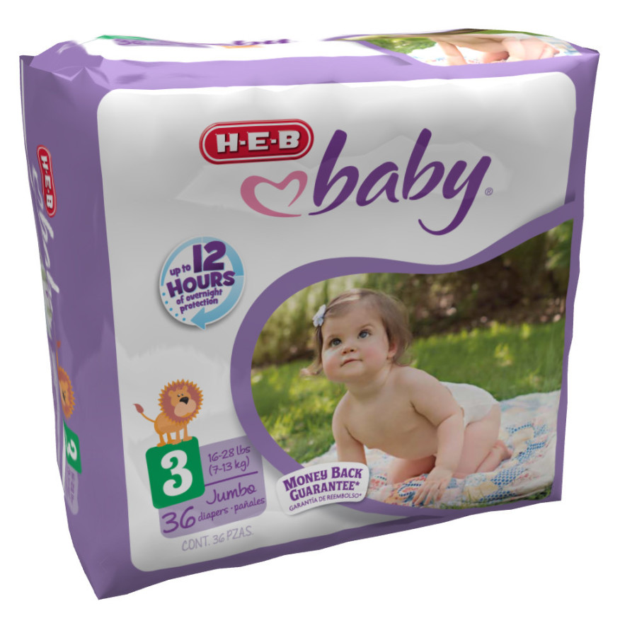 heb improved baby diapers