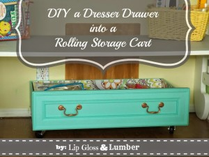 DIY-a-Dresser-Drawer-Rolling-Storage-Cart