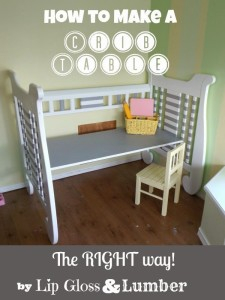 how to make a crib table