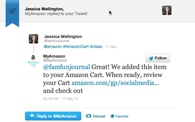 amazon cart response