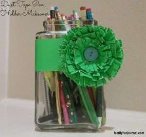 duct tape pen holder