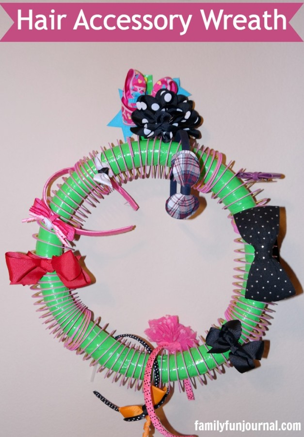 diy hair accessory wreath