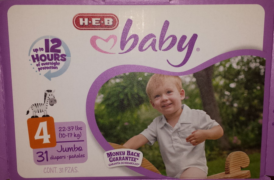 heb diapers