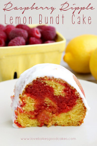 lemon raspberry bundt