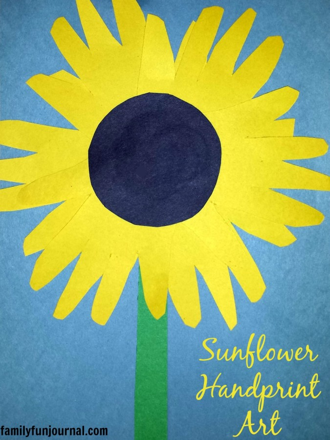 sunflower handprint art