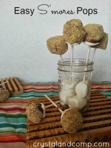 easy recipes s'mores pops