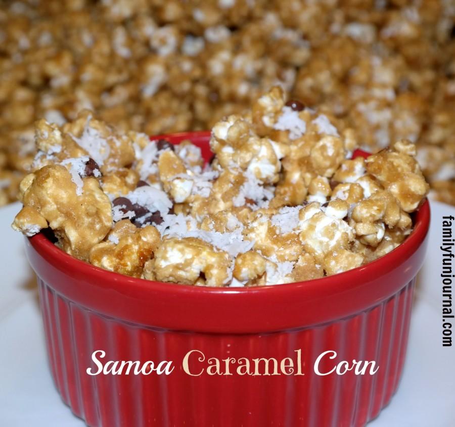 samoa caramel corn