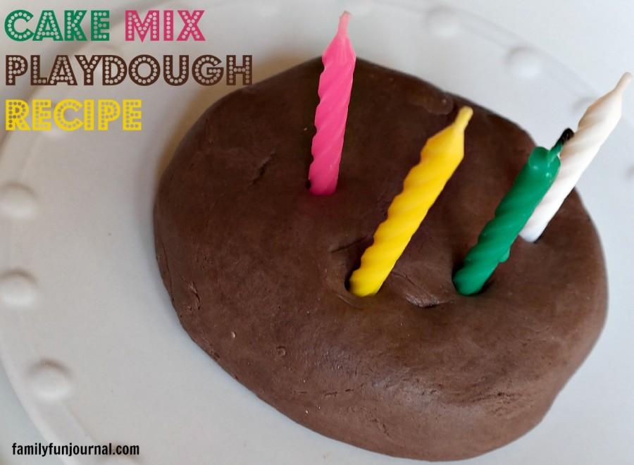 cake mix playdough recipe