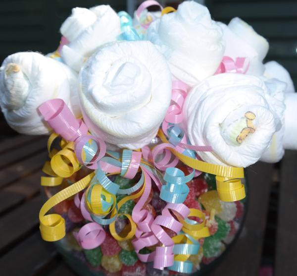 diy parents choice diaper bouquet