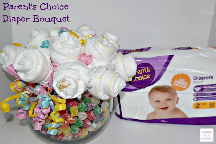 parents choice diaper bouquet