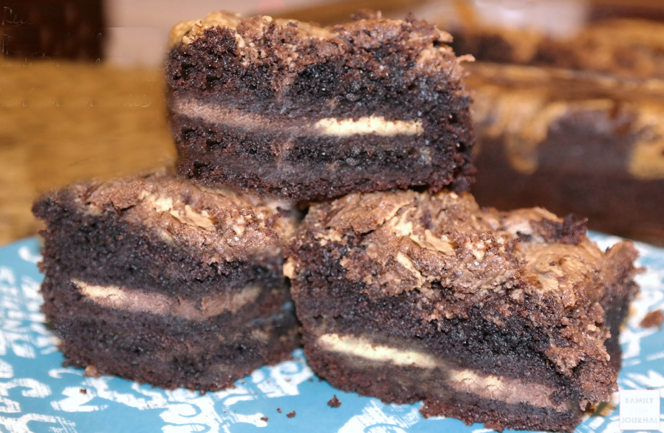 reeses cup oreo stuffed brownies