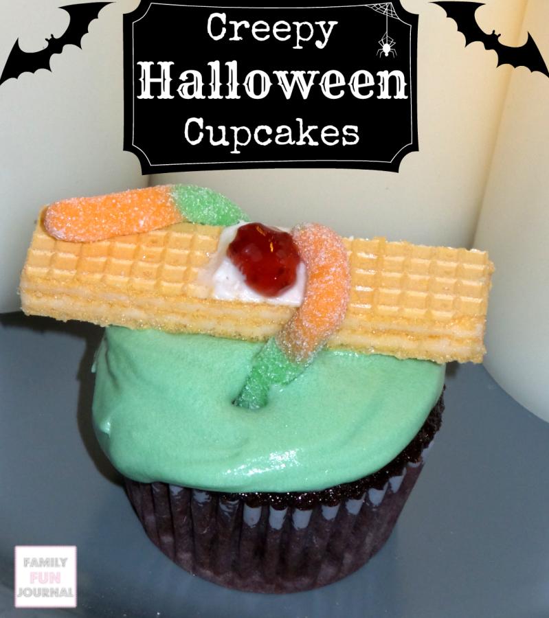 Creepy Halloween Cupcakes Family Fun Journal