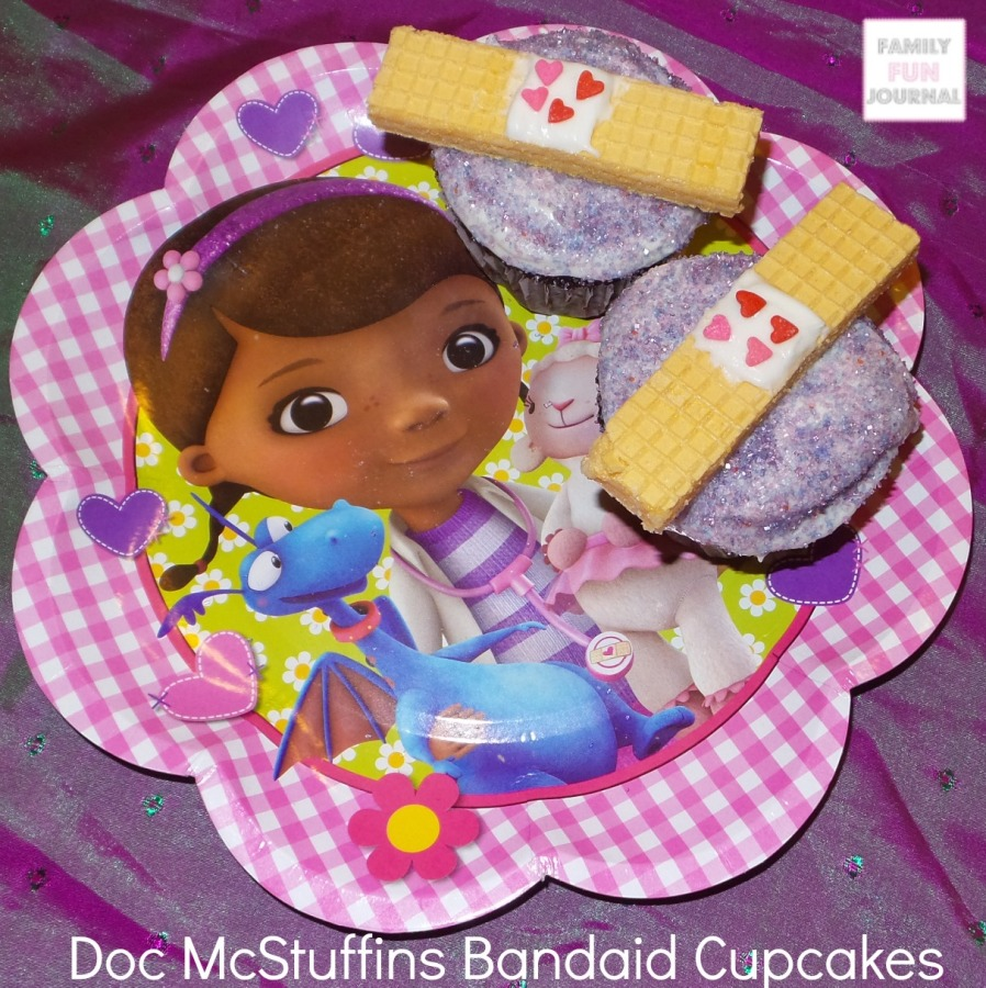 doc mcstuffins bandaid cupcakes