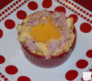 Homemade macaroni ham and cheese