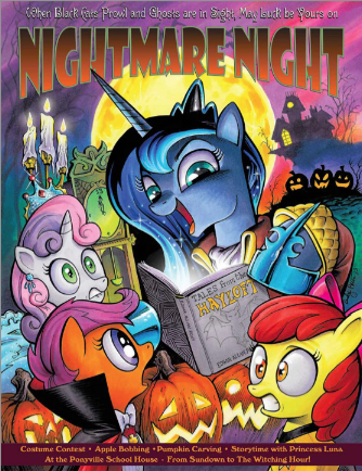 my little pony spooky poster