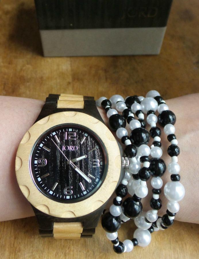 jord wood watch pearls