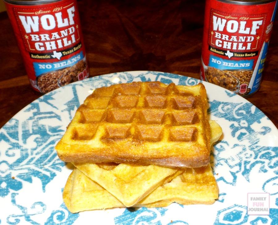 wolf brand chili waffles