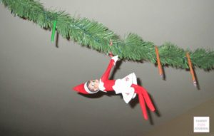 Candy Cane Elf on the Shelf