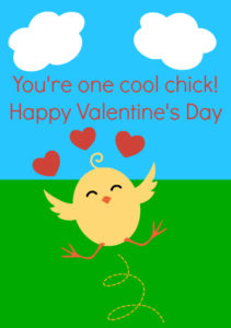 Cute Chick Printable Valentine